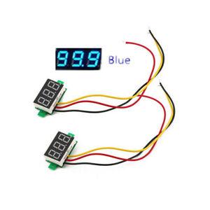 """0.28"""" LED DC 0-100V Digital Display Voltmeter Voltage VOLT METER 12V 24V Blue"""