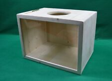 Pine Chinchilla Nest Box or Sand/Dust Bath with Framed Window & hinged lid