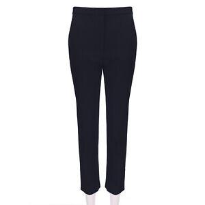 Alexander McQueen Midnight Navy Blue Trousers Pants IT40 UK8
