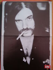 MOTORHEAD Lemmy has a quiet smoke Centerfold magazine POSTER 17x11 inches