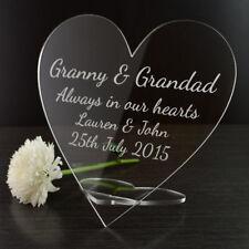 personnalisé Always dans notre COEURS Mémorial Cœur SIGNE idée pour tables à