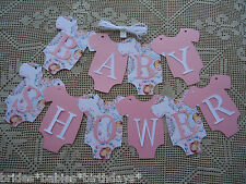 10 Bunting Flags Banners Garland Baby Shower Pink Baby Girl DIY Vintage