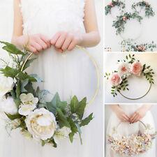 Gold Iron Metal Wreath Hoop Frame Ring Garland Bouquet Flower Wedding Decoration