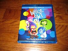 INSIDE OUT: Disney PIXAR) Blu-Ray/DVD + Digital HD) New; Sealed + I Ship Faster