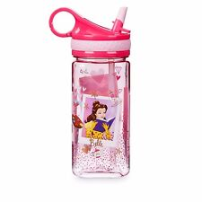 Disney Store Princess Plastic Snack Drink Flip Top Water Bottle 16 oz New 2017
