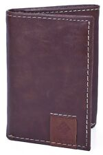 Columbia Tri Fold Leather Wallet - Light Brown - RFID Blocking Shield