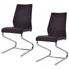 Lot de 2 chaise de salle à manger cantilever cuisine bureau design moderne Neuf