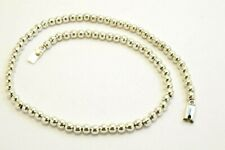 """Taxco Mexican Sterling Silver 6 mm Bead/Ball Chain Necklaces 20""""/52 cm, 52 gram"""