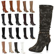 Elegante Damen Stiefel Stiletto High Heels Schuhe 98964 Gr. 36-41 Top