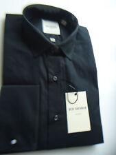 Ben Sherman Men's No Pattern Cotton Regular Collar Casual Shirts & Tops