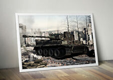 Panzer Tiger Tank WWII Wall Poster 50x70cm World of tanks WW2 art diorama