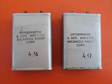 Micamold Oil Capacitors 4MF