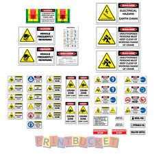 Articulated Crane Franna Terex risk assessment safety sticker kit 44 pieces