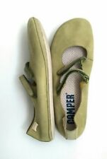 CAMPER flat comfort shoes size 5 100% Leather green