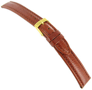 18mm Morellato Genuine Calfskin Leather Tan Brown Padded Stitched Watch Band 754