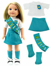 Junior Scout Uniform  by American Fashion World for 14'' Dolls