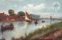 1905 VINTAGE TUCKS G.E.R. FISHING CONTEST HORNING NORFOLK BROADS POSTCARD
