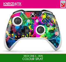 KNR6640 PREMIUM XBOX ONE S CONTROLLER COLOUR SPLAT CAMO SKIN STICKER