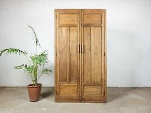 Vintage Rustic Wooden Pigeon Hole School Cupboard MILL-1001