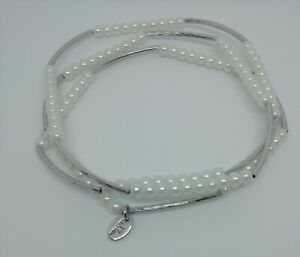 Chrysalis Friendship Pearl White Wrap Bracelet Or Can Be Worn As A Necklace