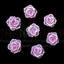 3D Flexible Flowers for Nail Art (20PCS) - Pink & White Rose
