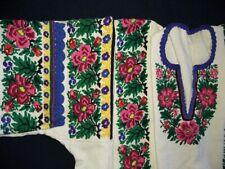 Ukrainian Vyshyvanka Hand Embroidered Dress Women Vintage Sorochka