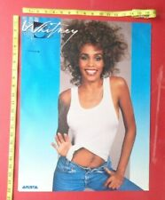"WHITNEY HOUSTON,POSTER,16X22"",Arista Record company promo"