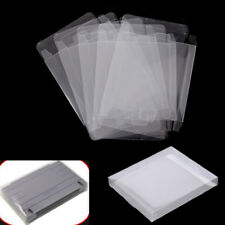 5X Game Plastic Cartridge Protector Cover Box Case For Nintendo SNES/Super NES.