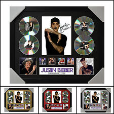 Justin Bieber 4CD Signed Framed Memorabilia Limited Ed. 2017-Multiple Variations
