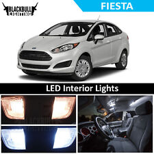 White LED Interior Lights Accessories Bulb Package Kit fits 2018 Ford Fiesta