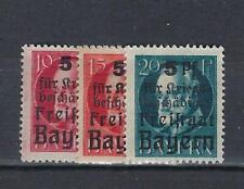Allemagne BAVIERE BAYERN  Weimar Yv&T 171/73* mh* Surchargés Bayern complèt 1919