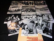 LES COMPAGNONS DE LA GLOIRE jeu 12 photos heliogravures cinema western 1965
