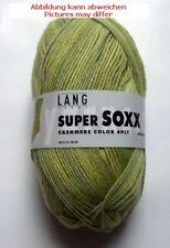NUEVO 100 g Súper Soxx Cachemira Color 4ply Pastel Verde fb.24