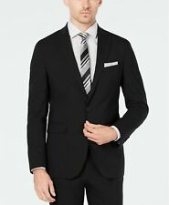 Cole Haan Wearable Technology Slim-Fit Stretch Suit Jacket 42R Black