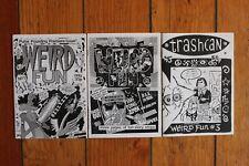 Weird Fun 1 2 3 by Martin/Bagnall Vintage UK Punk DYI Underground Comic Art Zine