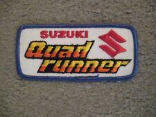 SUZUKI QUADRUNNER PATCH VINTAGE NOS!
