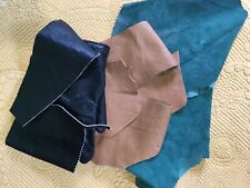 Leather/Suede Pieces(lot) For Multiple Uses For Craft/Sewing
