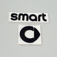 SMART Emblem Neu  Logo Zeichen Aufkleber Heckklappe Schriftzug schwarz