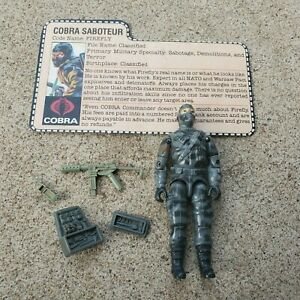 Vintage GI Joe Figure 1984 Firefly complete with file card