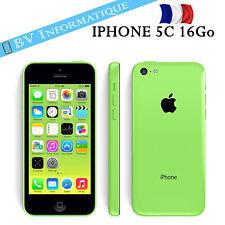 """APPLE Iphone 5c 16 Go VERT """"DÉBLOQUÉ TOUT OPÉRATEUR""""  GARANTIE 6 MOIS"""
