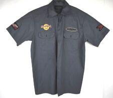 NWOT Authentic mens hard rock cafe short sleeve button up shirt LAS VEGAS SZ L