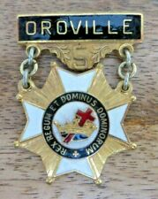 MASONIC KNIGHTS TEMPLAR COMMANDERY BREAST JEWEL - OROVILLE 5 (36F)