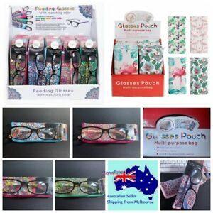 Elegance Glasses mouth snapped Pouch Bag & Reading glasses with matching case