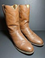 Men's Justin Boots 3714 Roper Cowboy Boots 9 D Pebble Grain Leather