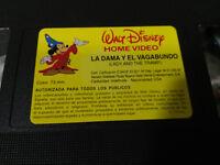 LA DAMA Y EL VAGABUNDO WALT DISNEY VHS TAPE CINTA CASTELLANO SOLO VHS SIN CAJA