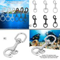 316 Stainless Steel Hook Swivel Eye Snap Bolt Hook Kit Scuba Diving Accessories