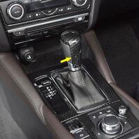 Carbon Fiber Style ABS Shift Knob Gear Cover Cap For MAZDA CX-3 2015-2018