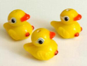 10pcs handmade Lampwork glass beads glass lovely yellow duck 10*15mm