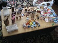 Doll House Large Assemblage of Furniture and Other Items