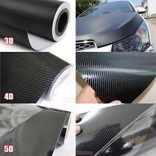 """12"""" x 60"""" - Car 3D 4D 5D Carbon Fiber Vinyl Wrap Sticker Sheet Film Black - CF"""